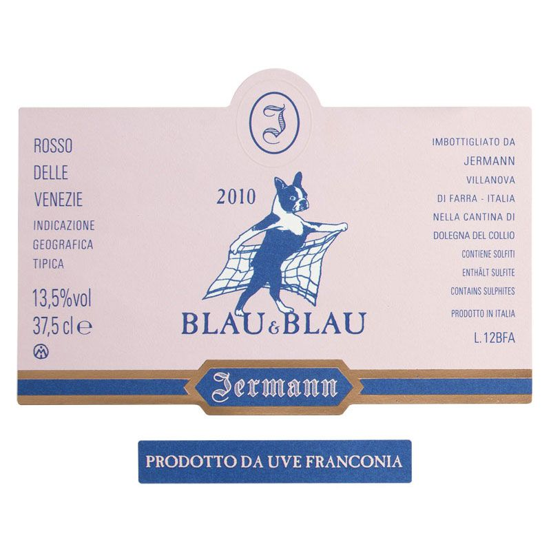 Jermann Blau & Blau 2010 Front Label