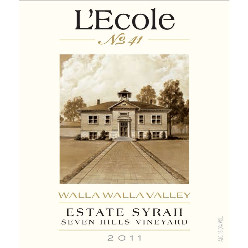 L'Ecole 41 Seven Hills Vineyard Estate Syrah 2011 Front Label