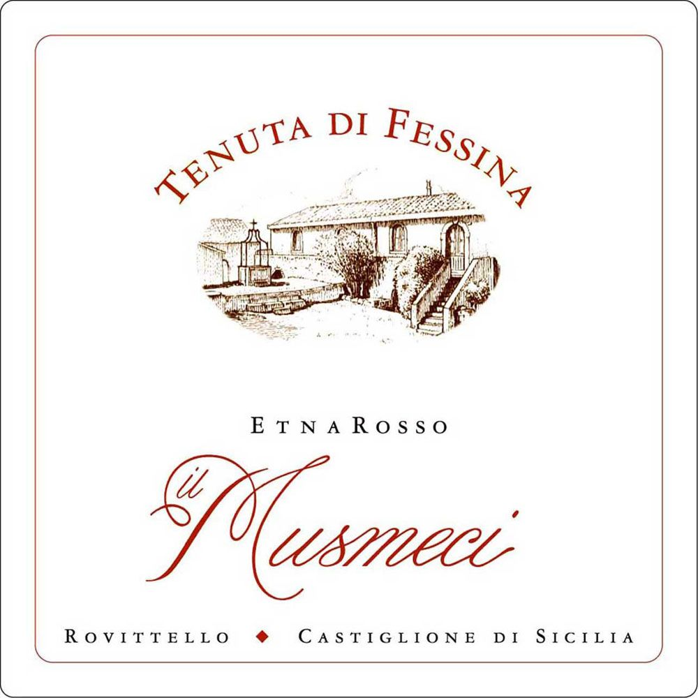 Fessina Musmeci Etna Rosso 2008 Front Label