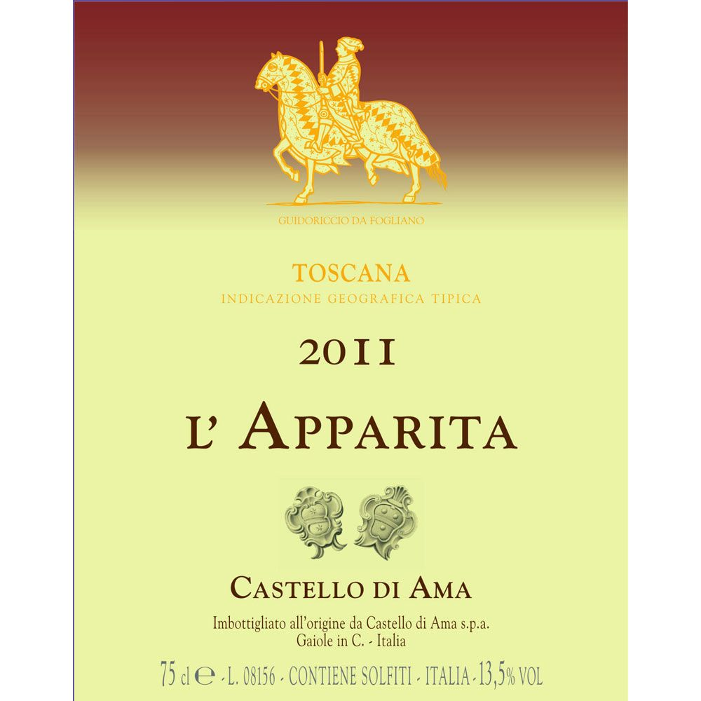 Castello di Ama L'Apparita 2011 Front Label