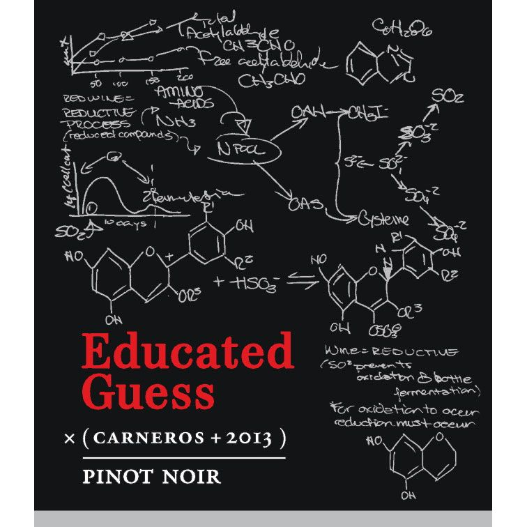 Roots Run Deep Educated Guess Pinot Noir 2013 Front Label