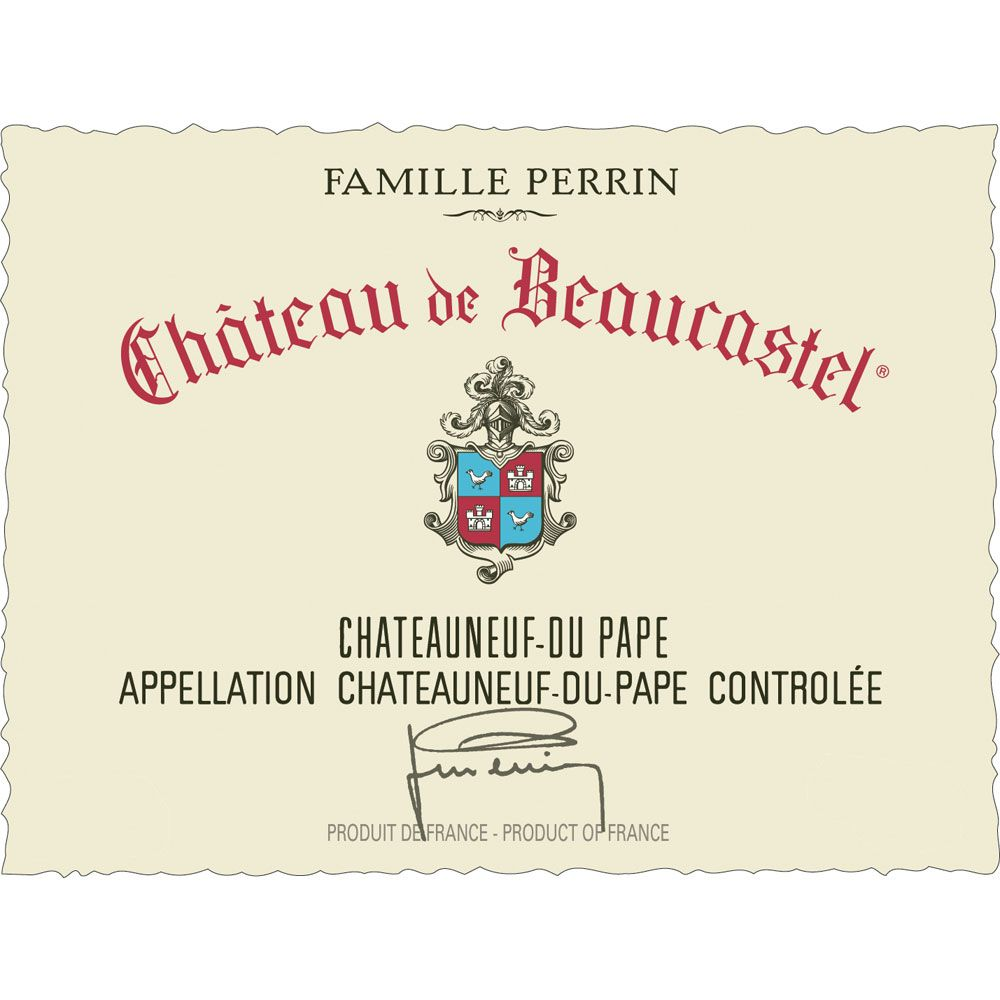 Chateau de Beaucastel Chateauneuf-du-Pape (3 Liter Bottle) 2012 Front Label