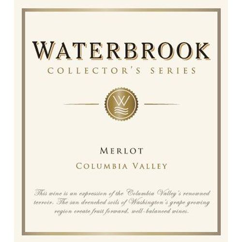 Waterbrook Collector's Series Merlot 2013 Front Label