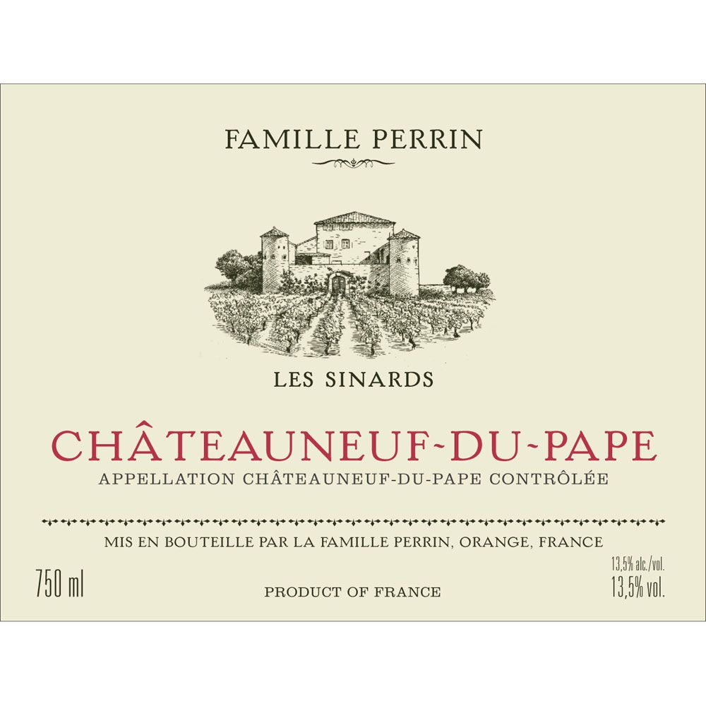 Famille Perrin Chateauneuf-du-Pape Les Sinards 2012 Front Label