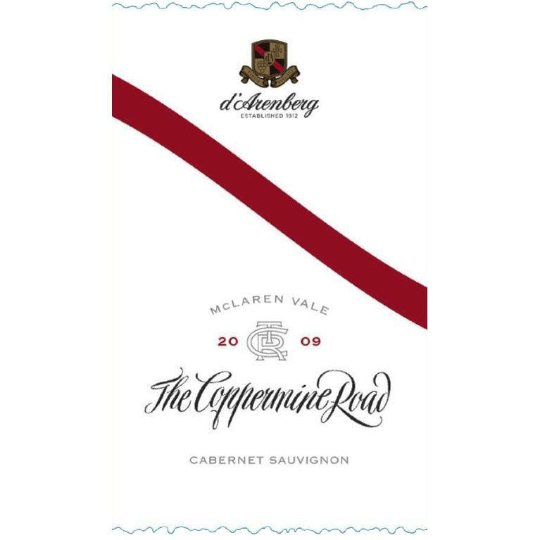 d'Arenberg The Coppermine Road Cabernet Sauvignon 2009 Front Label
