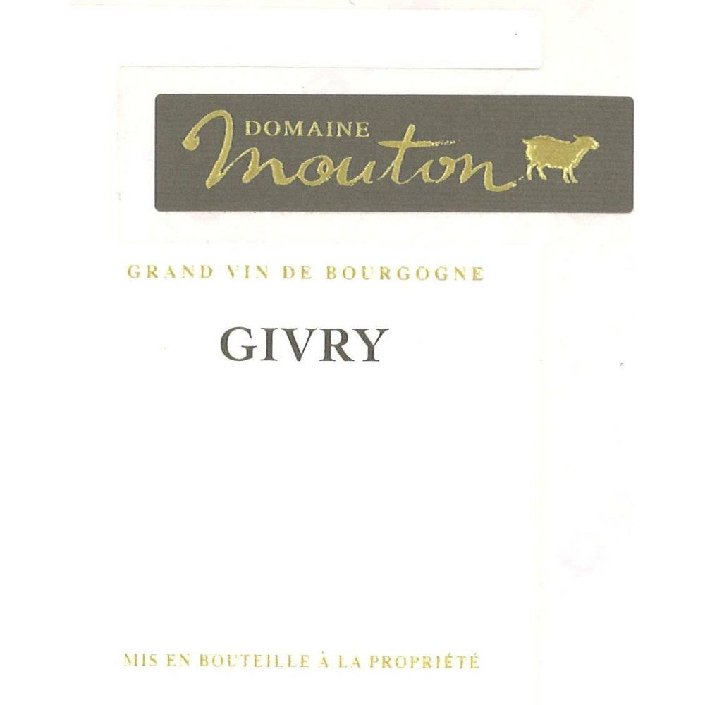 Domaine Laurent Mouton Givry Rouge 2012 Front Label