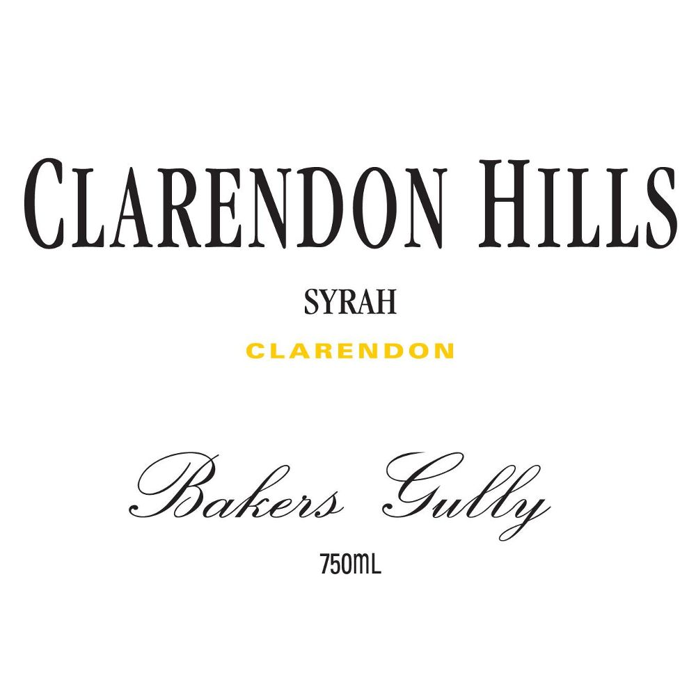 Clarendon Hills Bakers Gully Syrah 2010 Front Label