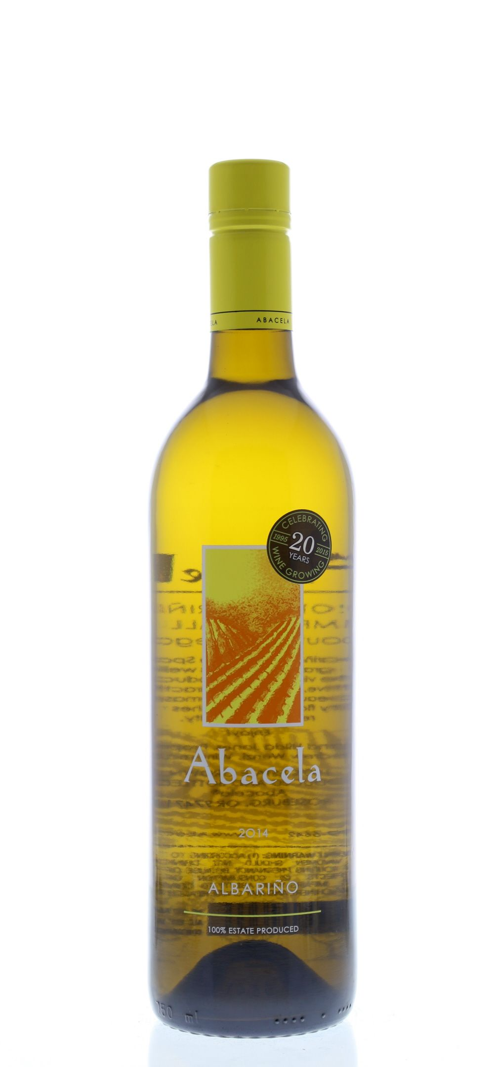 Abacela Albarino 2014 Front Bottle Shot