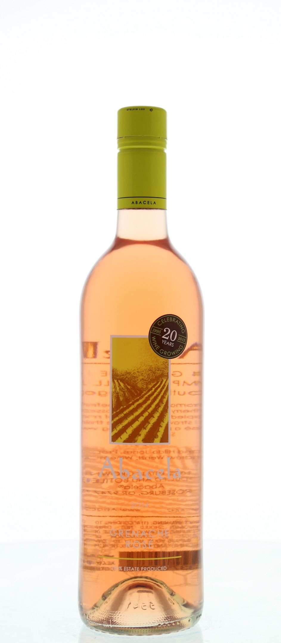 Abacela Grenache Rose 2014 Front Bottle Shot
