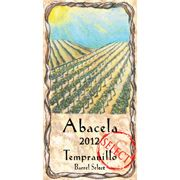 Abacela Barrel Select Estate Tempranillo 2012 Front Label
