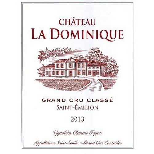 Chateau La Dominique  2013 Front Label
