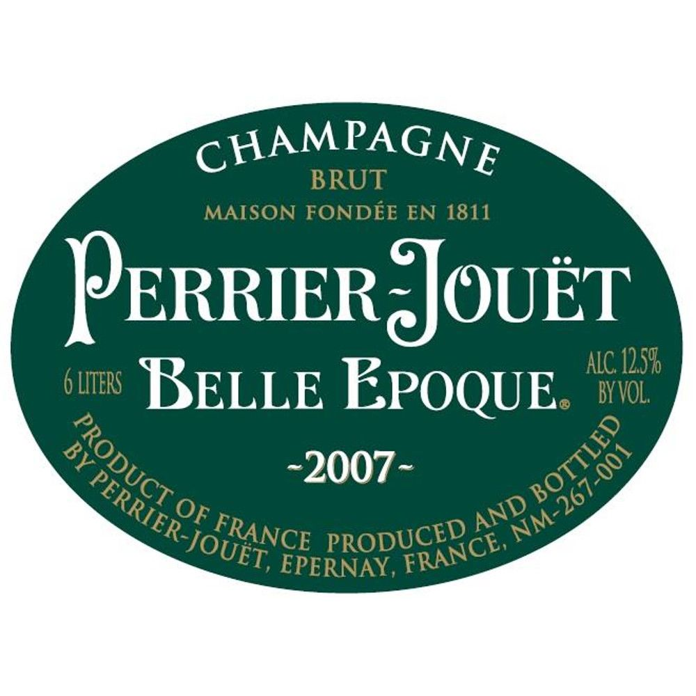 Perrier-Jouet Belle Epoque With Glassware Set 2007 Front Label
