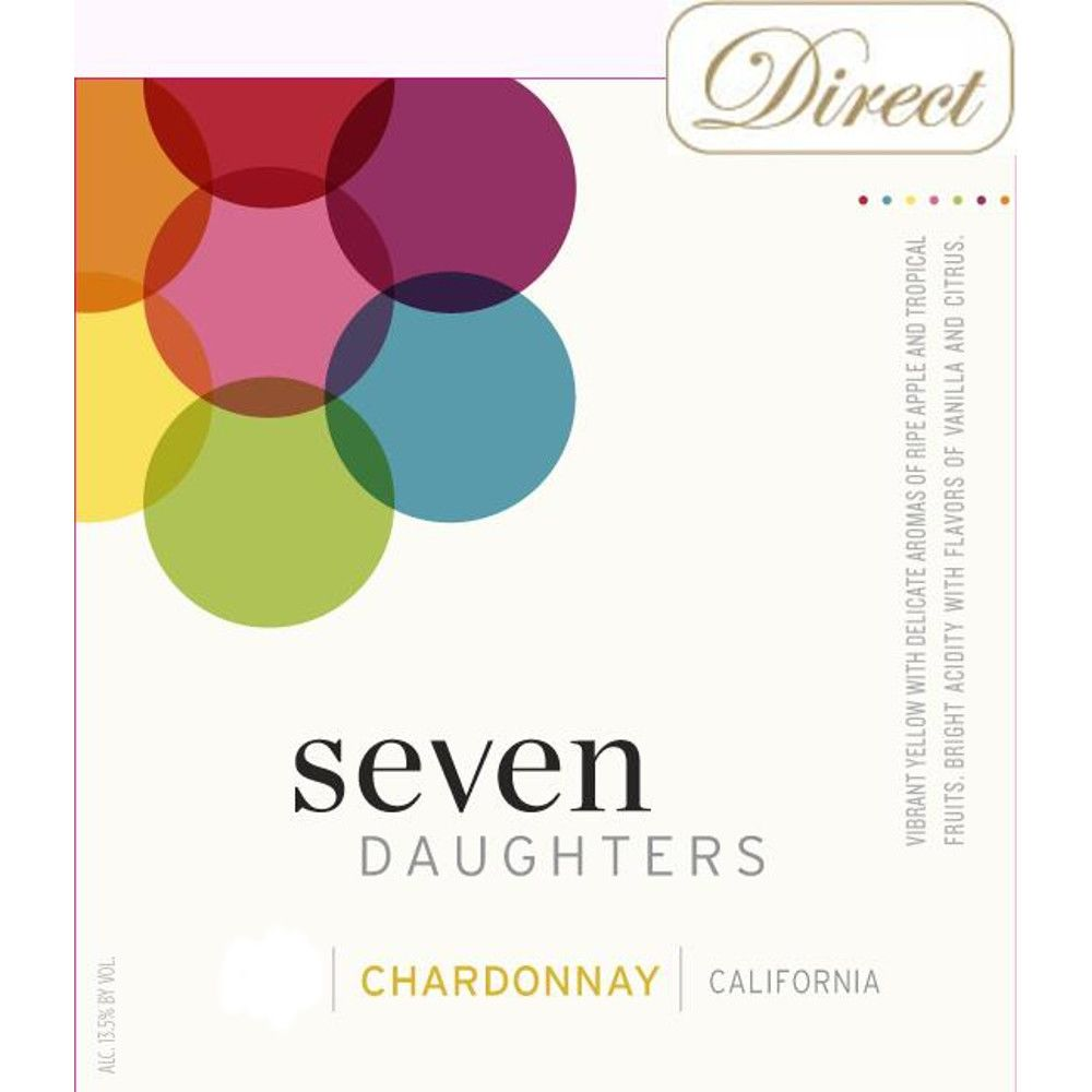 Seven Daughters Chardonnay 2013 Front Label