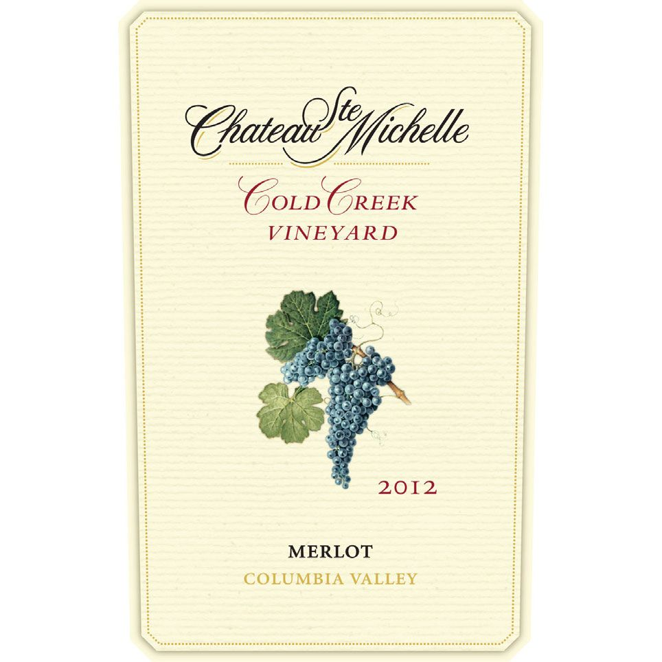 Chateau Ste. Michelle Cold Creek Vineyard Merlot 2012 Front Label