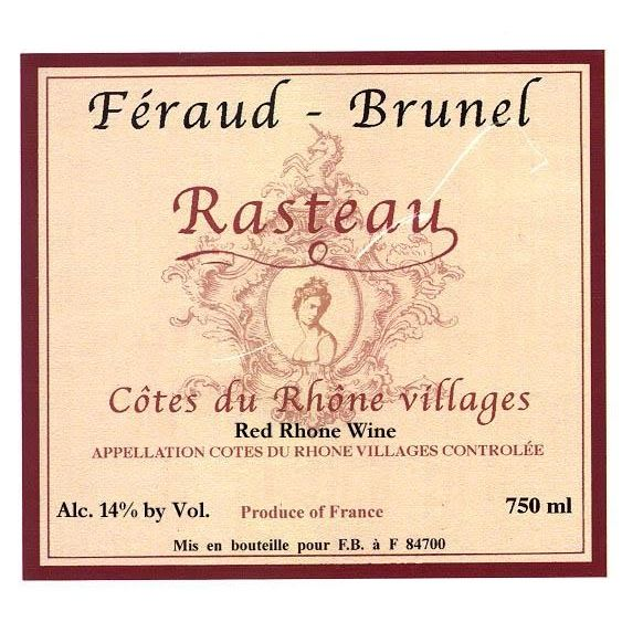 Feraud-Brunel Rasteau 2012 Front Label