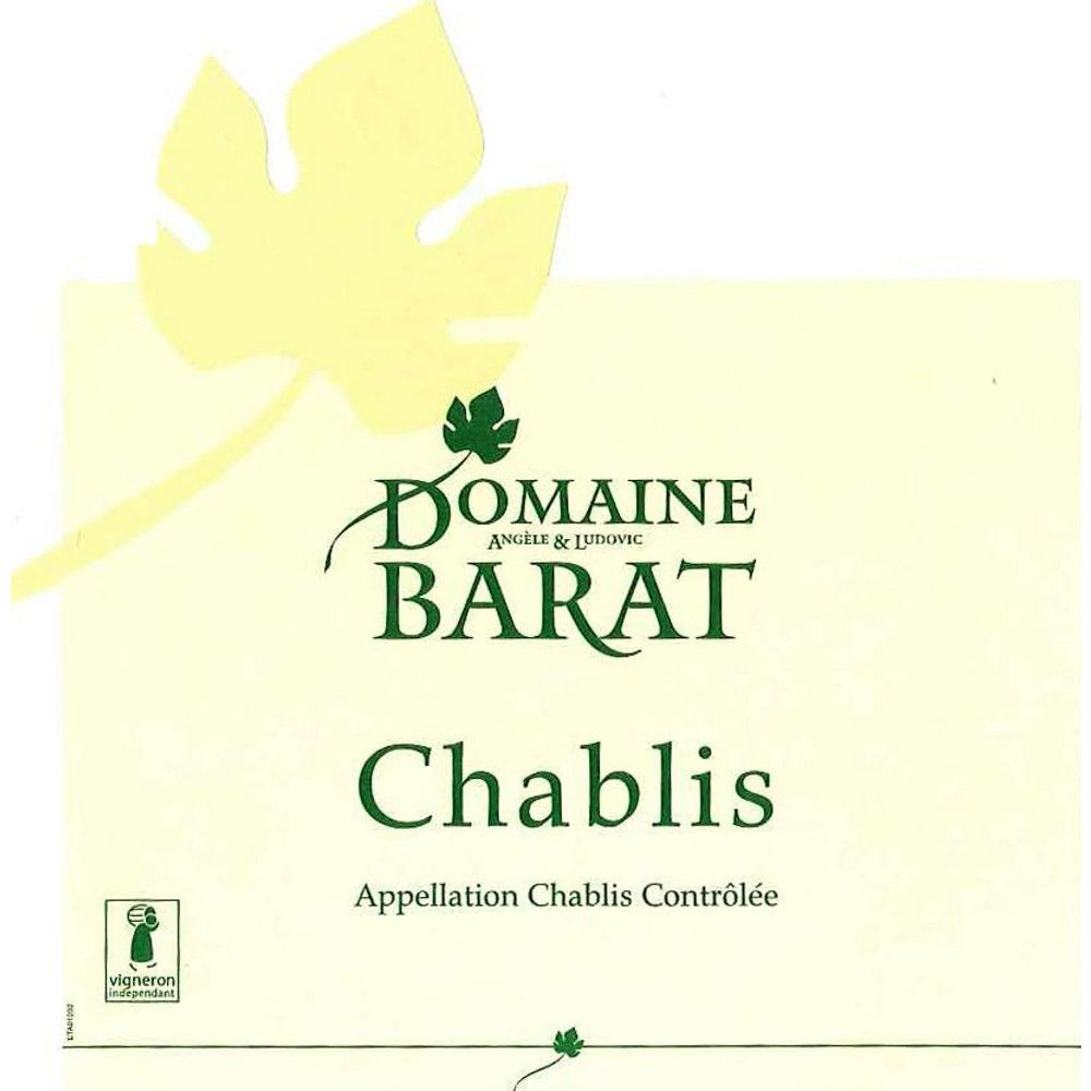 Domaine Barat Chablis (375ML half-bottle) 2013 Front Label