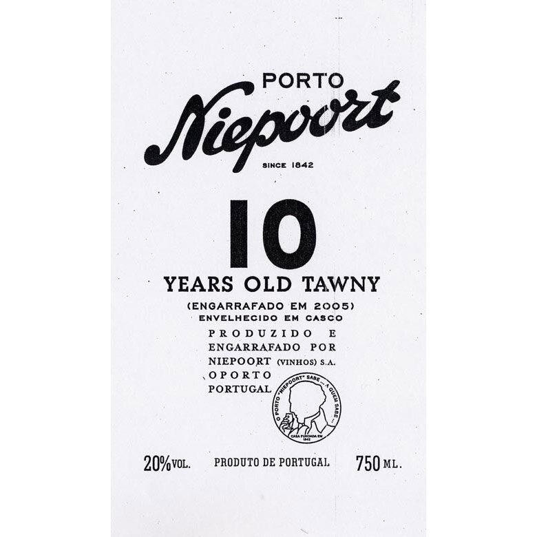 Niepoort 10 Years Old Tawny Port Front Label