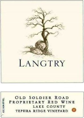 Langtry Estate Old Soldier Road Tephra Ridge Vineyard Proprietary Red 2011 Front Label