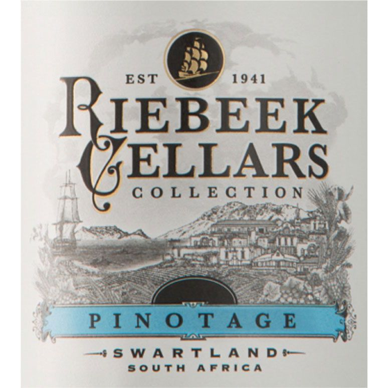 Riebeek Cellars Pinotage 2014 Front Label