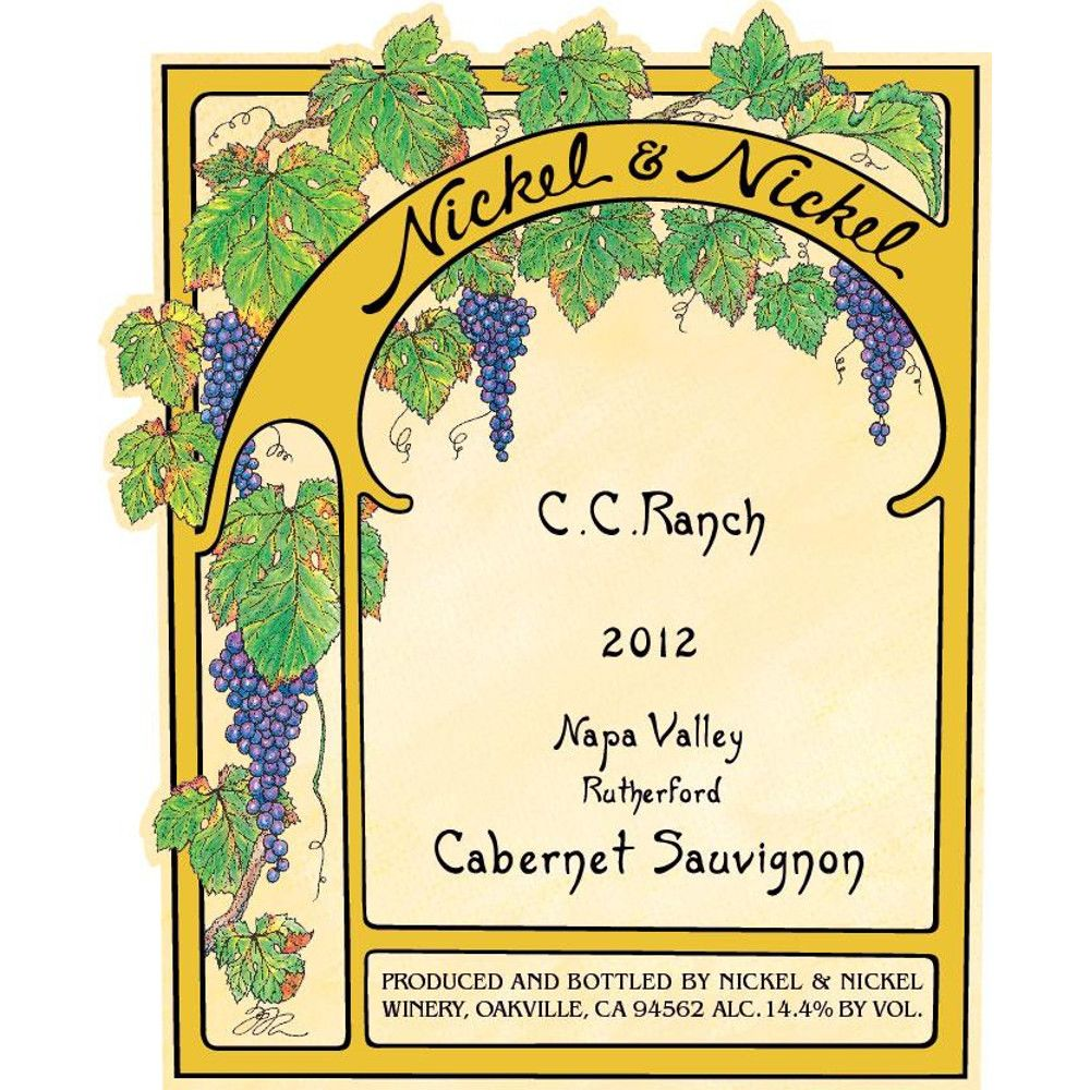 Nickel & Nickel C.C. Ranch Cabernet Sauvignon 2012 Front Label