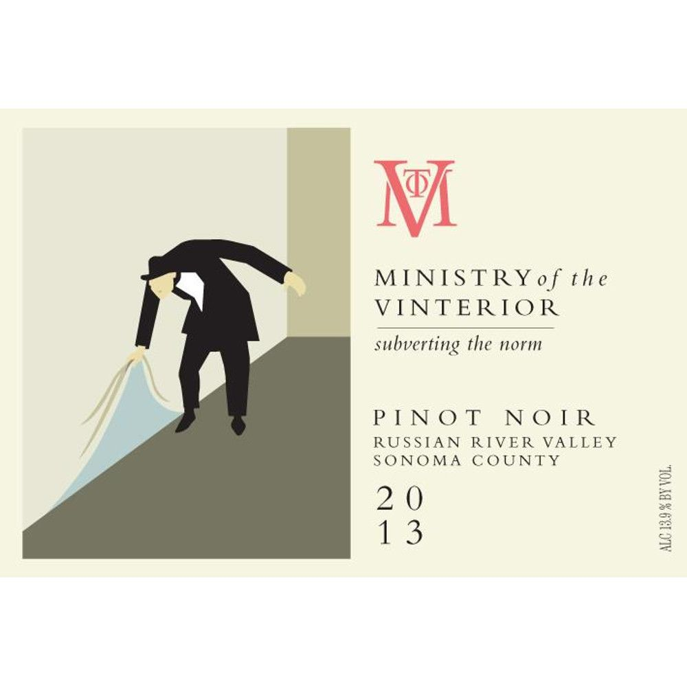 Ministry of Vinterior Russian River Pinot Noir 2013 Front Label