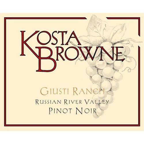 Kosta Browne Giusti Ranch Pinot Noir 2013 Front Label