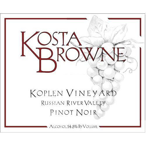 Kosta Browne Koplen Vineyard Pinot Noir 2013 Front Label
