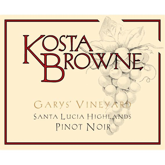 Kosta Browne Garys' Vineyard Pinot Noir 2013 Front Label