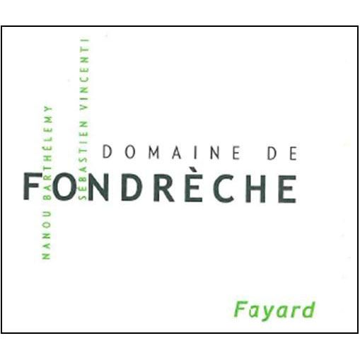 Domaine de Fondreche Fayard Rouge 2013 Front Label