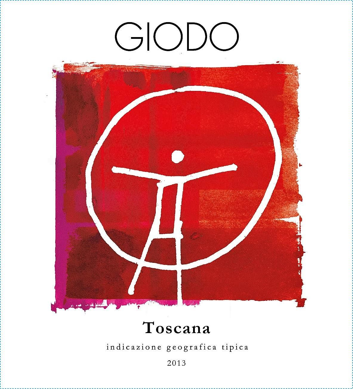 Podere Giodo Toscana Rosso 2013 Front Label