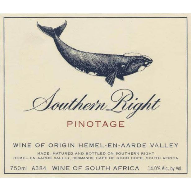 Southern Right Pinotage 2014 Front Label