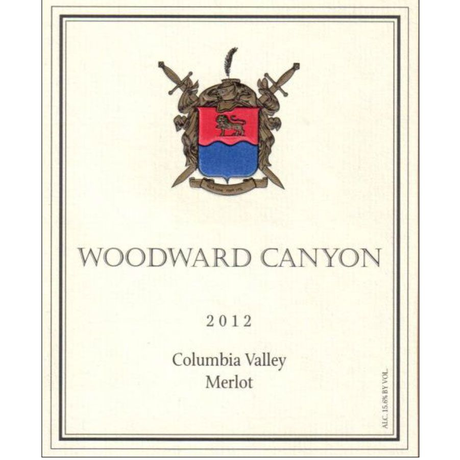 Woodward Canyon Columbia Valley Merlot 2012 Front Label