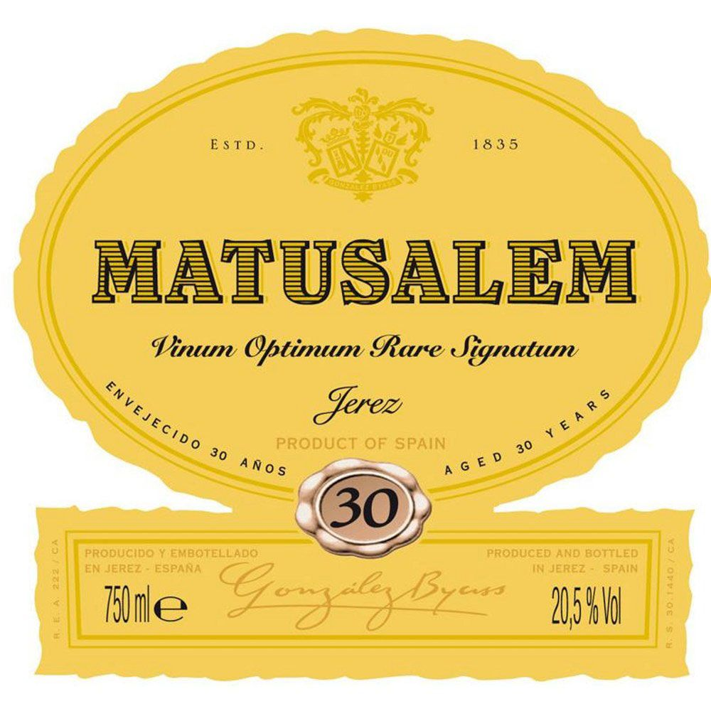 Gonzalez Byass Matusalem Sherry (375ML half-bottle) Front Label