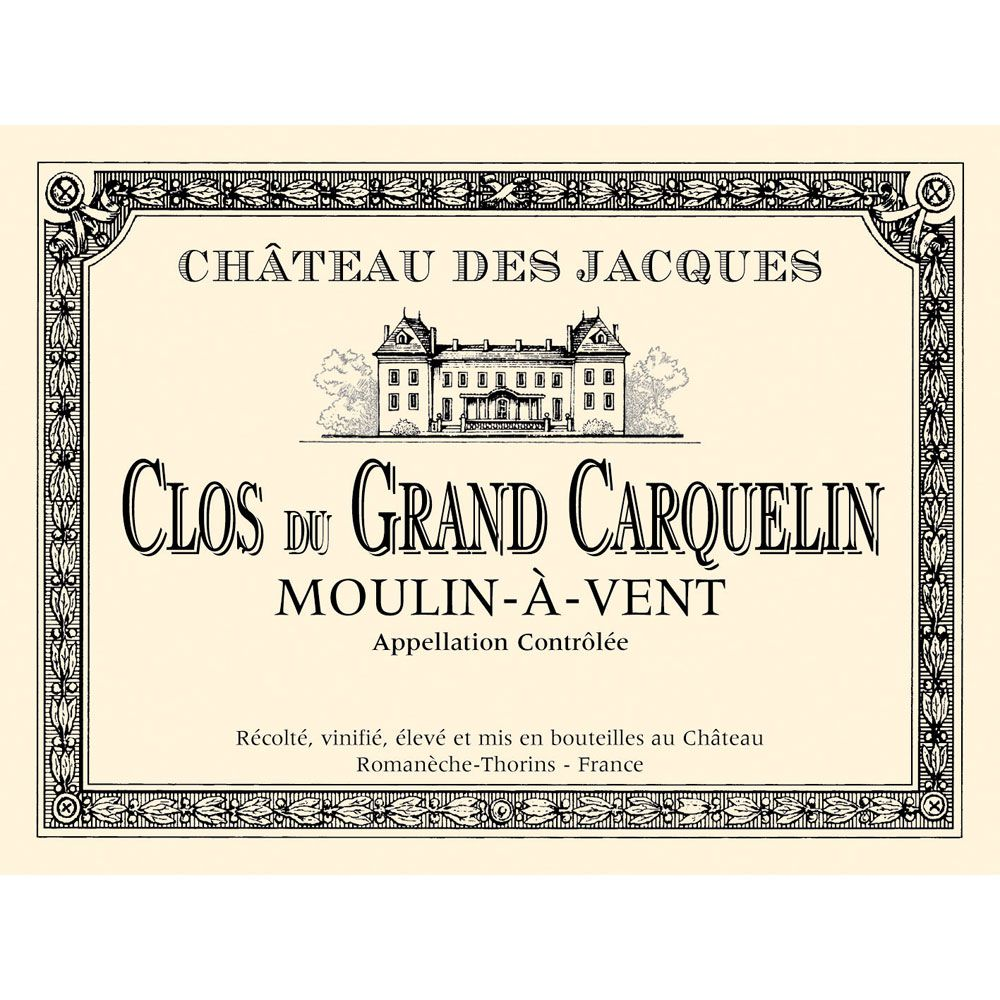 Chateau des Jacques Moulin-a-Vent Clos du Grand Carquelin 2012 Front Label