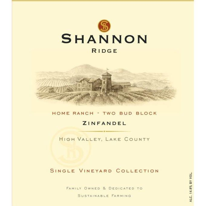 Shannon Reserve Two Bud Block Zinfandel 2011 Front Label