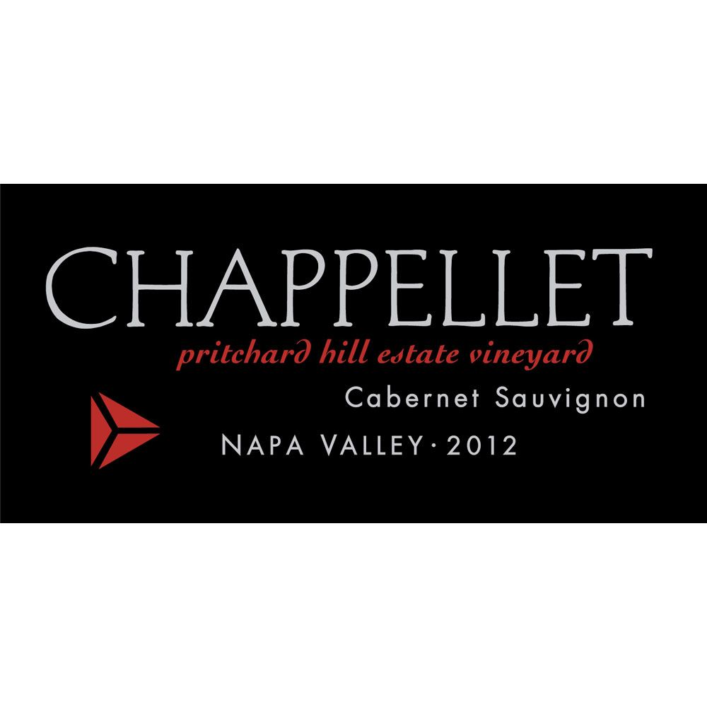 Chappellet Pritchard Hill Estate Vineyard Cabernet Sauvignon 2012 Front Label