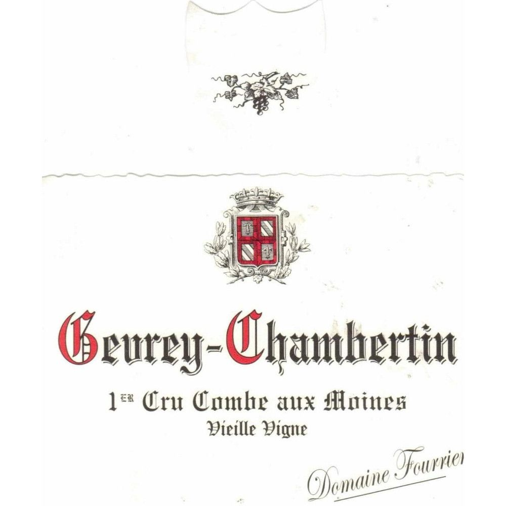 Domaine Fourrier Gevrey Chambertin Premier Cru Combe Aux Moines 2013 Front Label