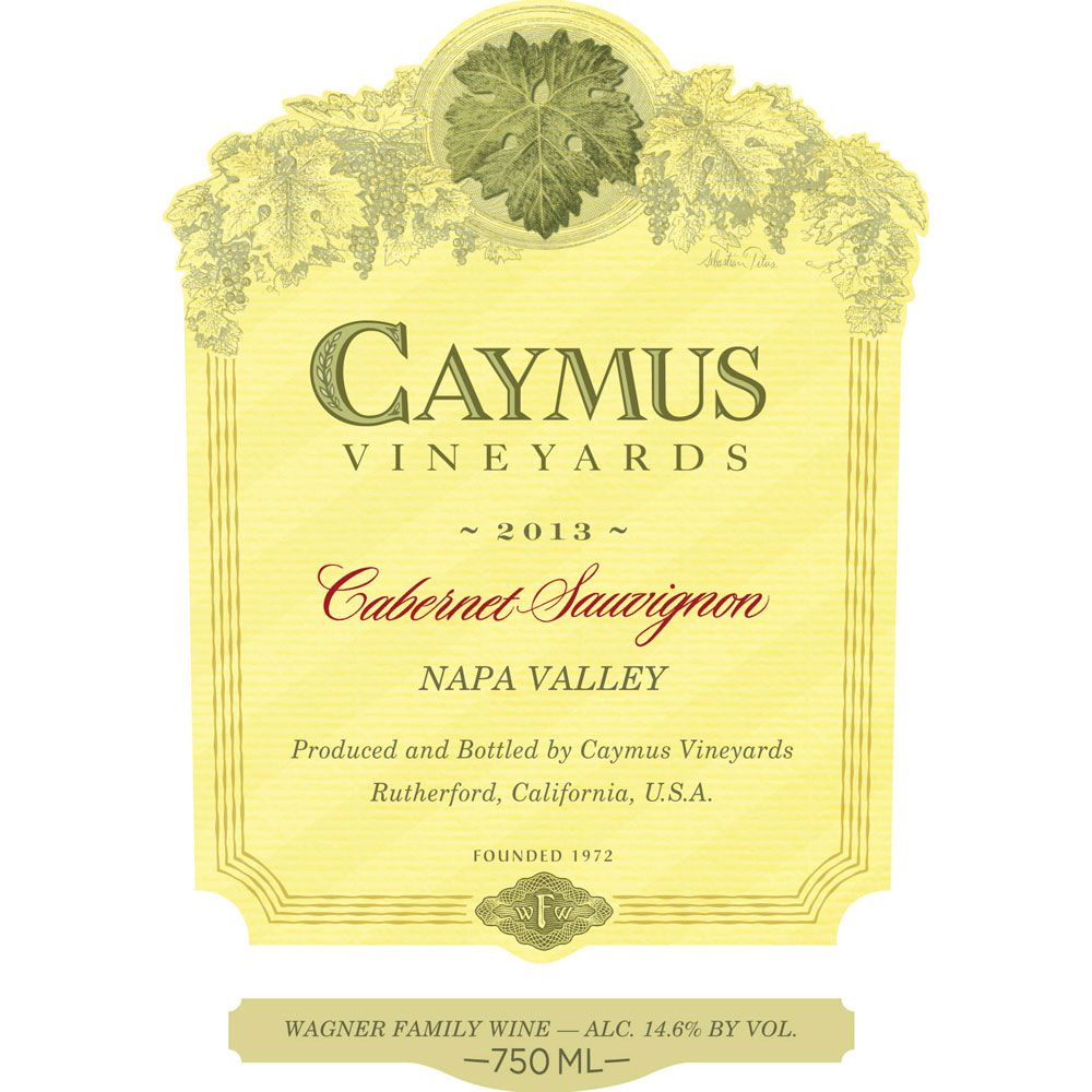 Caymus Napa Valley Cabernet Sauvignon (1 Liter Bottle) 2013 Front Label
