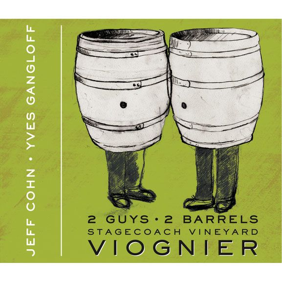 Jeff Cohn Cellars 2 Guys 2 Barrels Viognier 2012 Front Label