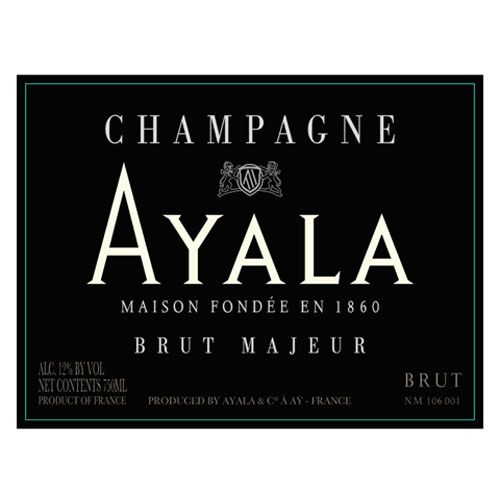 Ayala Brut Majeur (375ML half-bottle) Front Label
