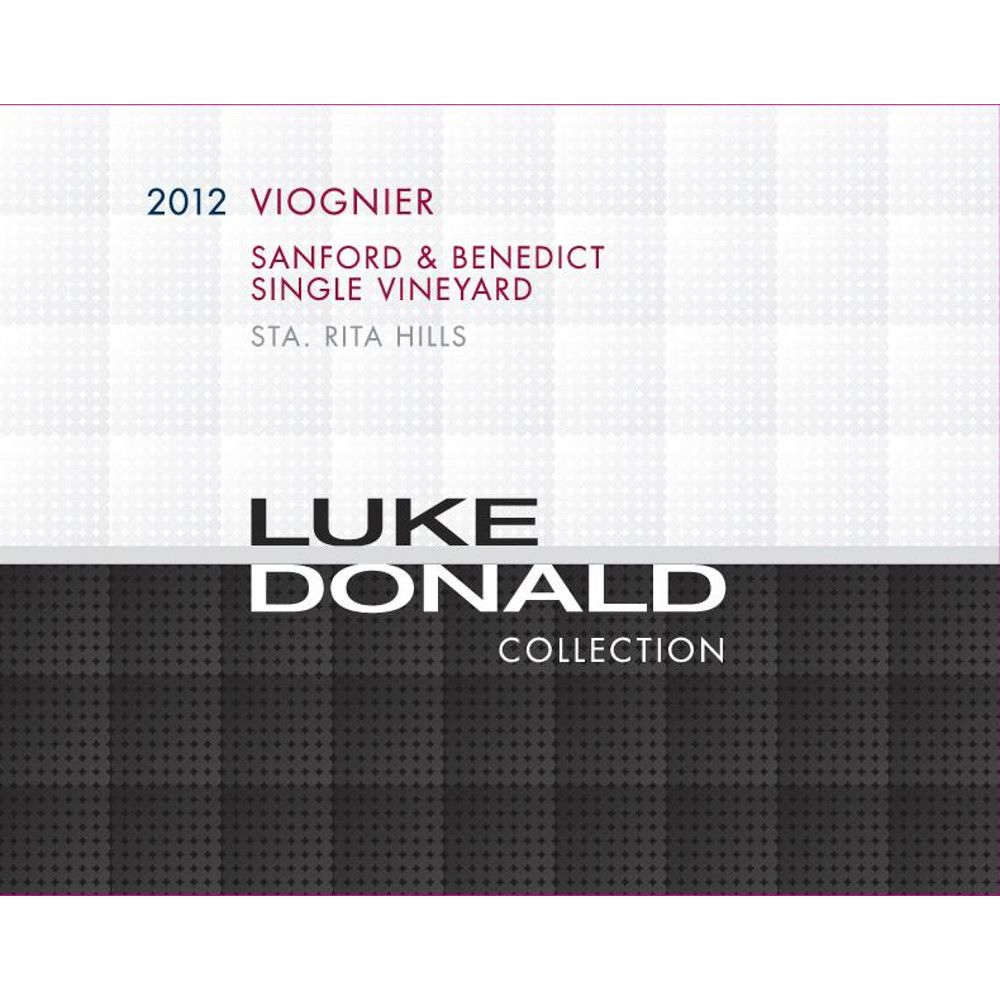 Luke Donald Collection Viognier 2012 Front Label