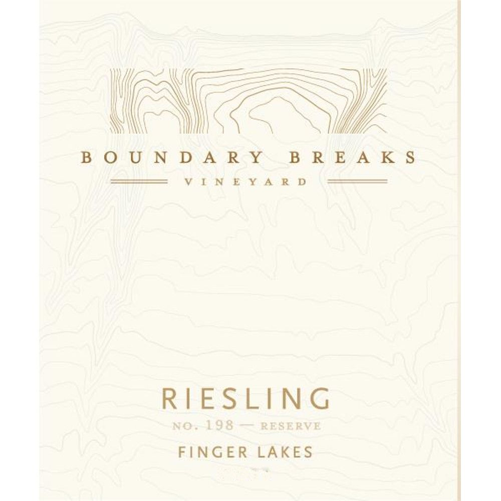 Boundary Breaks No.198 Reserve Riesling 2012 Front Label