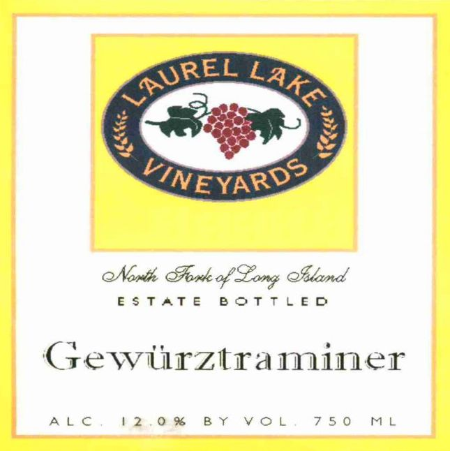 Laurel Lake  Gewurztraminer 2012 Front Label