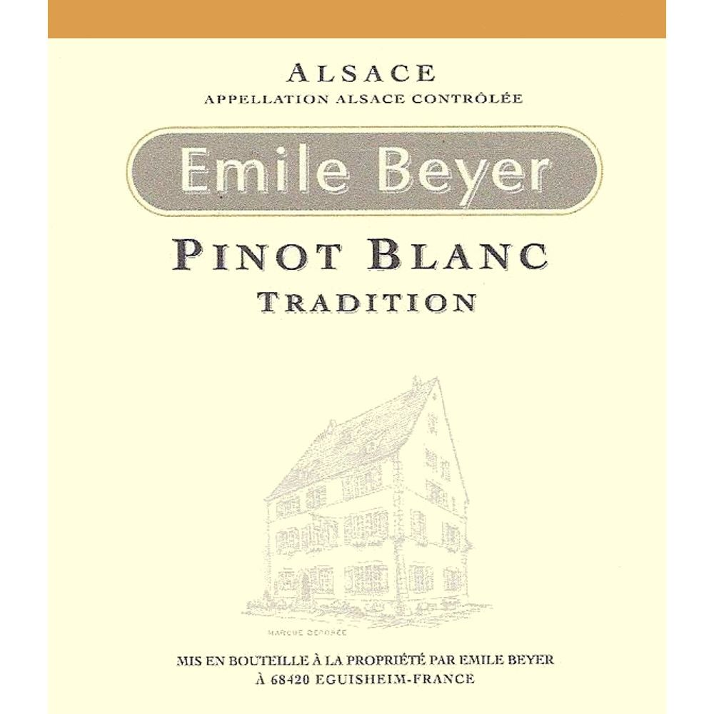 Domaine Emile Beyer Pinot Blanc Tradition 2014 Front Label