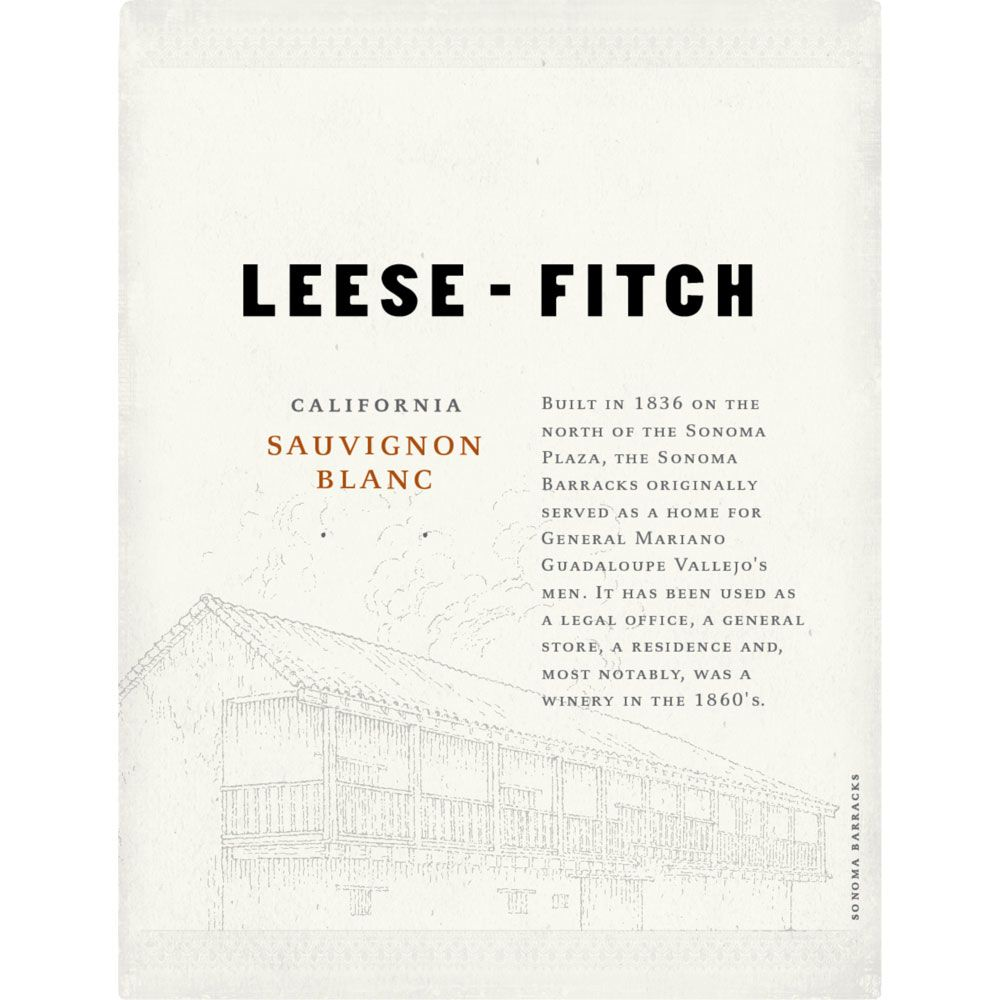 Leese-Fitch Sauvignon Blanc 2014 Front Label