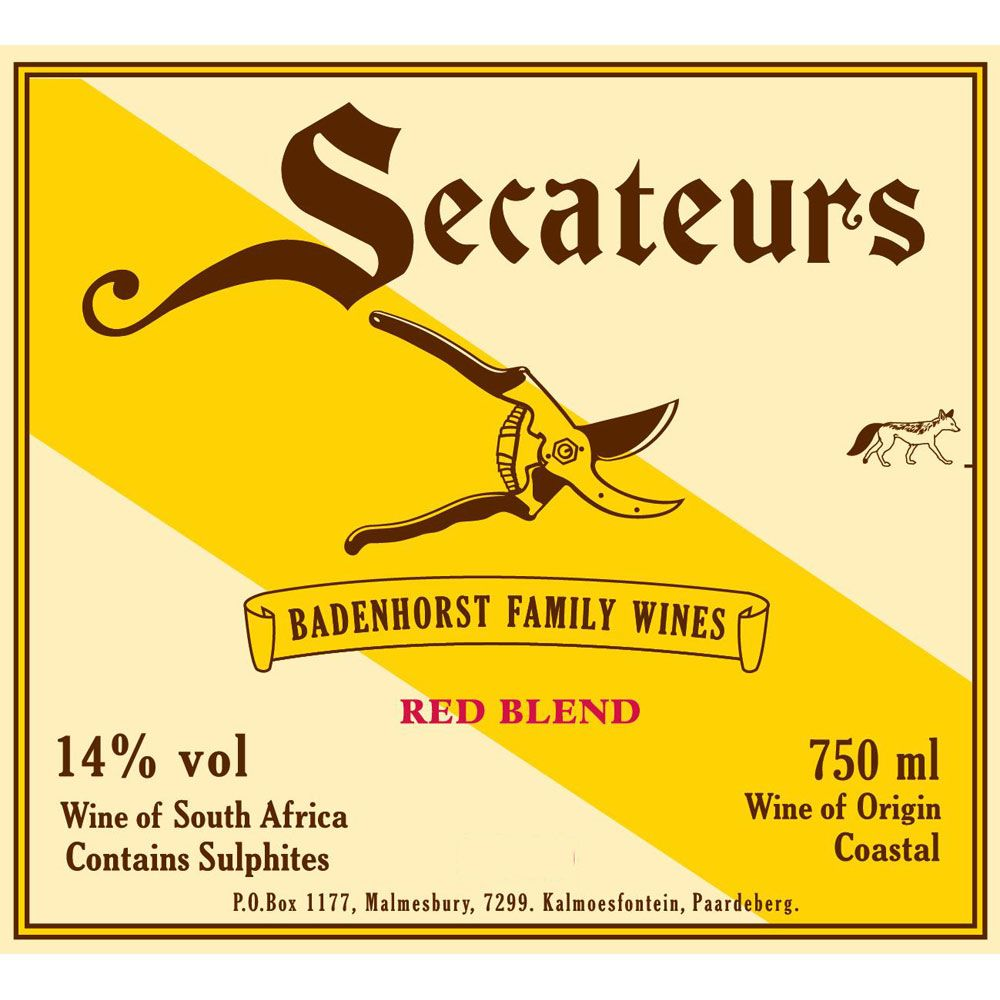 Badenhorst Family Red Blend 2012 Front Label
