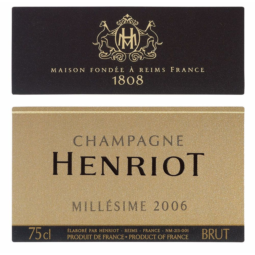 Henriot Brut Millesime 2006 Front Label