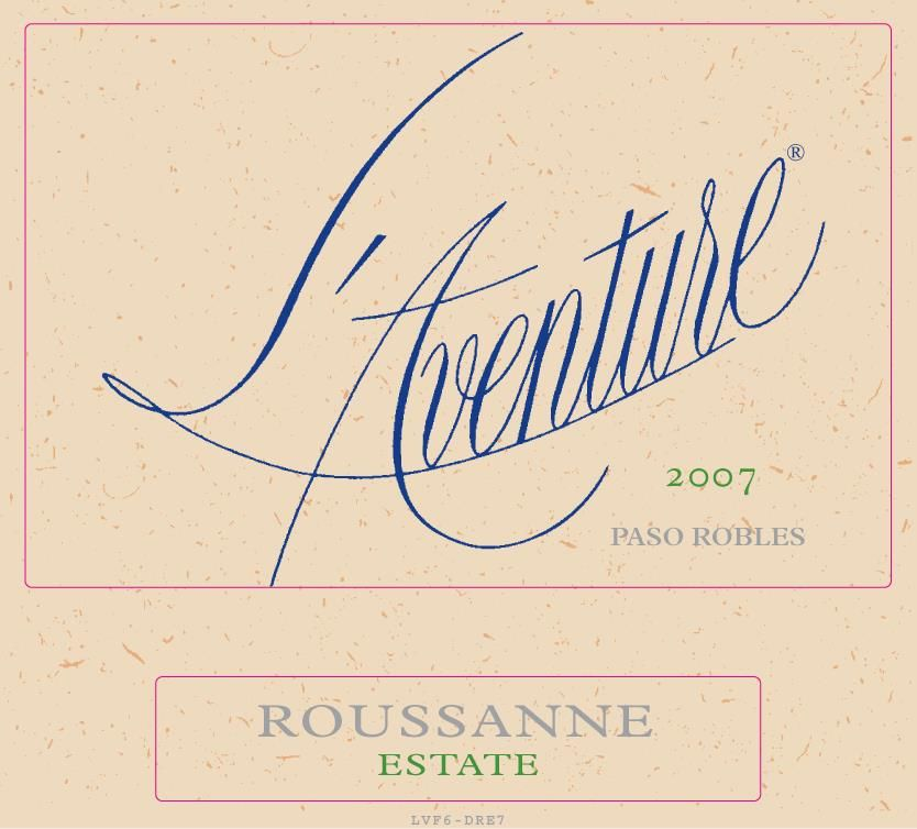 L'Aventure Estate Roussane 2007 Front Label