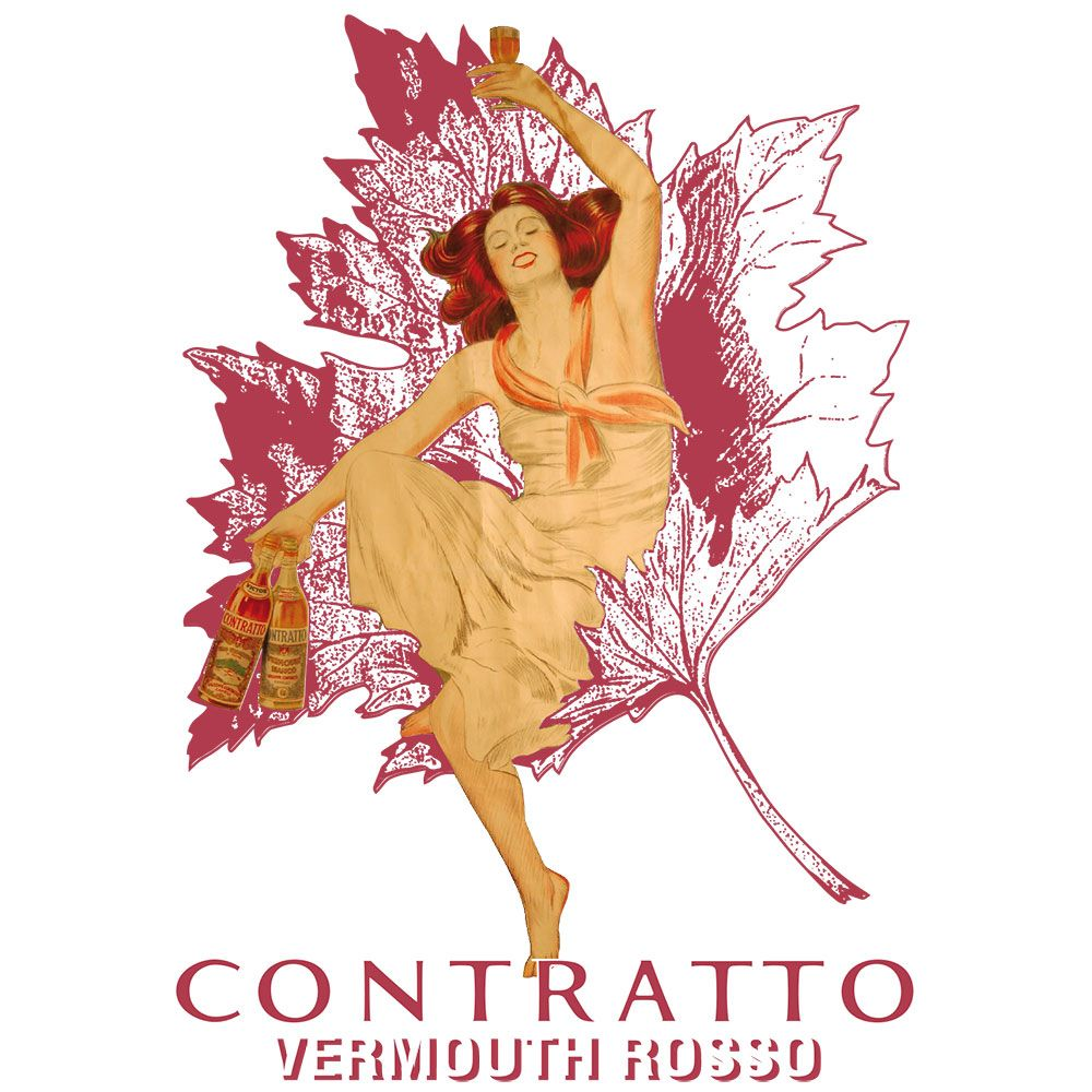 Contratto Vermouth Rosso Front Label