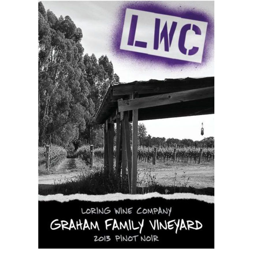 Loring Wine Company Graham Family Vineyard Pinot Noir 2013 Front Label